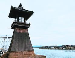 灯篭が見守る児島観光港